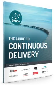 Image of cover of DZone 2015 Guide to Continuous Delivery