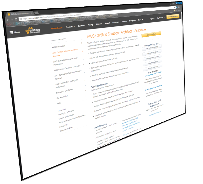 aws solution architect screenshot 3d