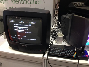 Sinclair ZX Spectrum running JetPac